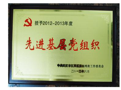 湖北bwin国际平台网址医药有限公司党支部荣获先进基层党组织荣誉称号